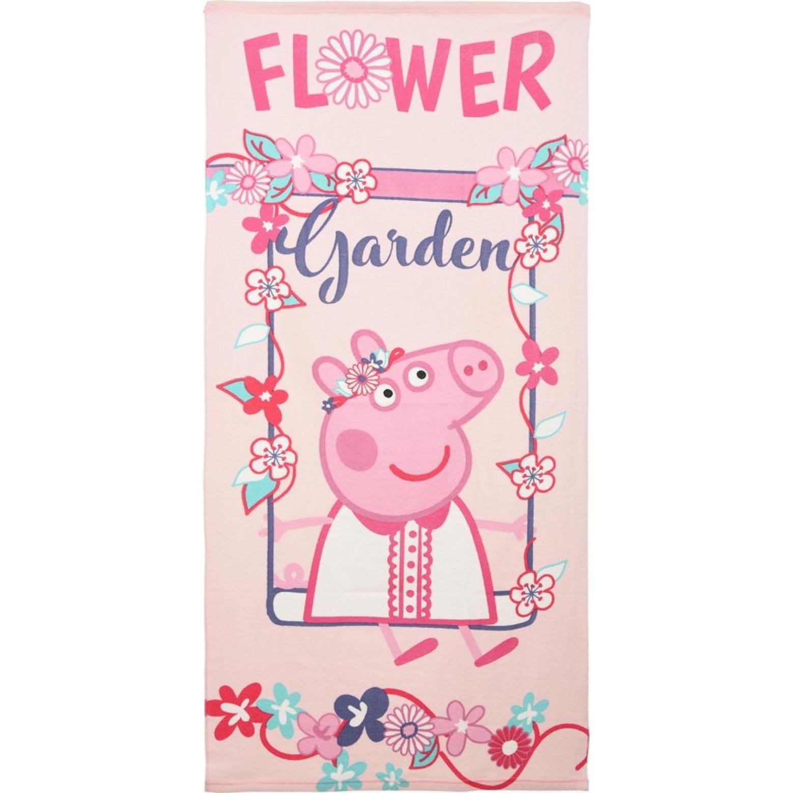 Peppa pig Flower Garden strandlaken 140 x70 cm