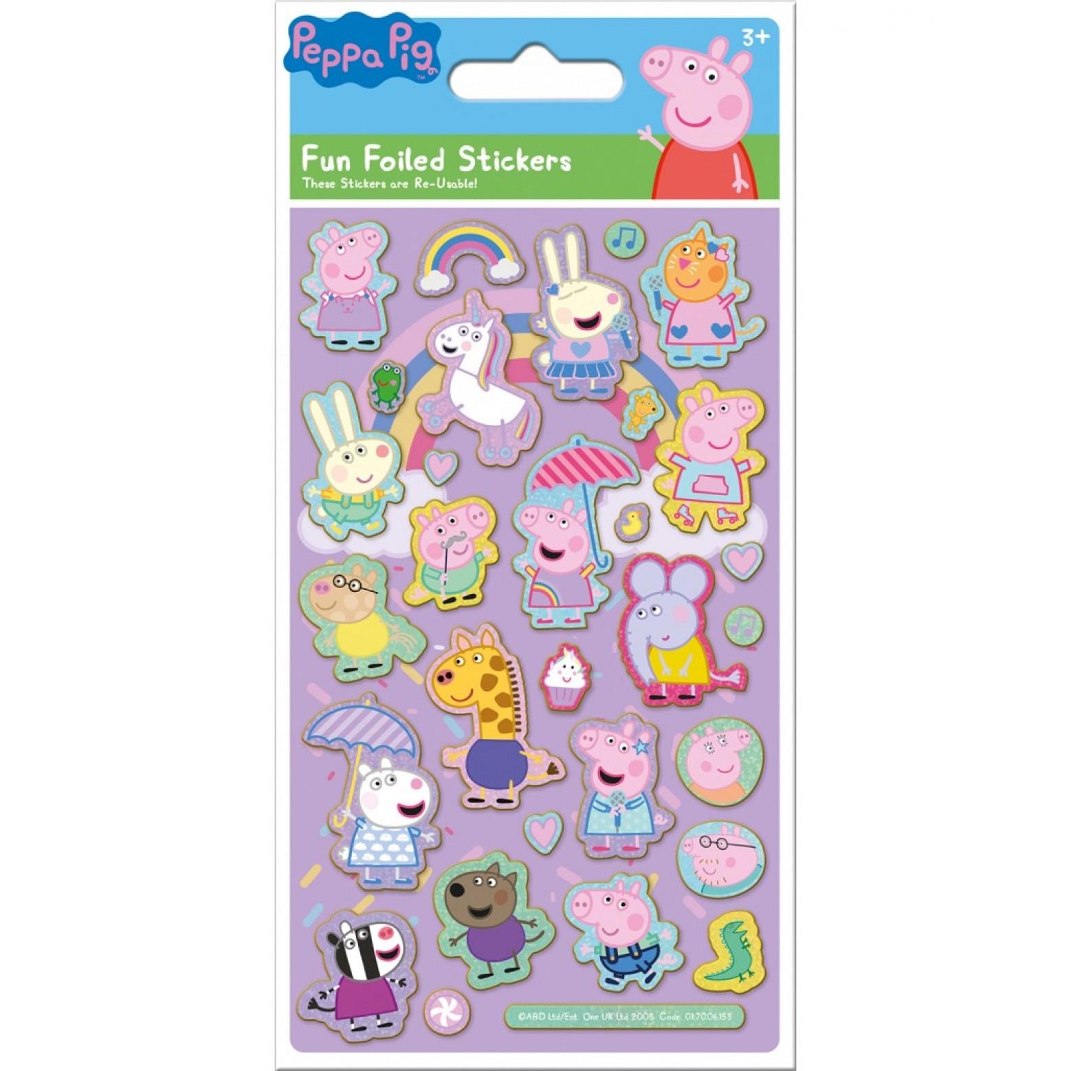 Peppa Pig herbruikbare stickers 3+