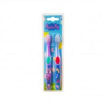 Peppa Pig tandenborstel 2 stuks paars en blauw