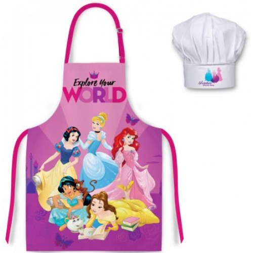 Disney princess kookschort met koks muts 3-8 jaar