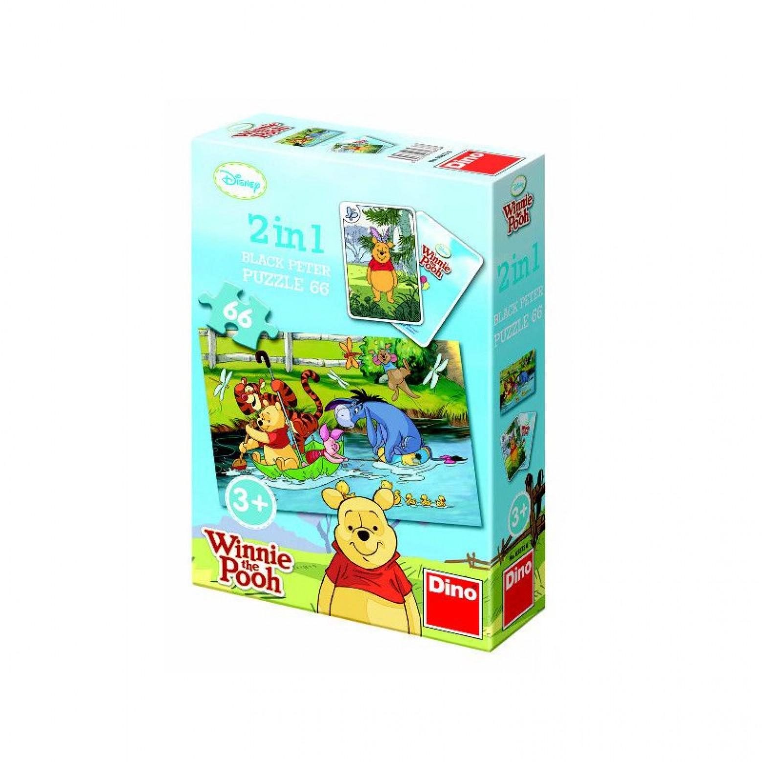 Winnie de pooh 2 in 1 puzzel 66 stukjes 3+