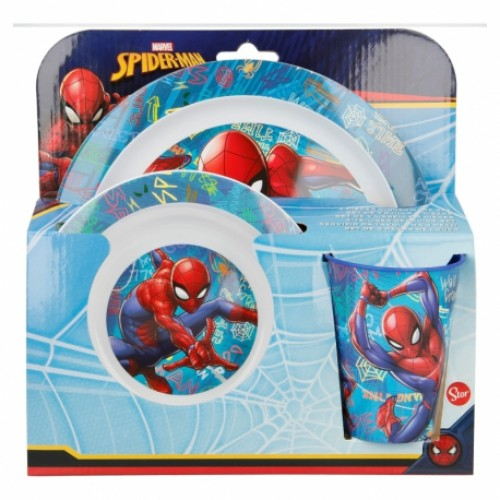 Marvel Spiderman magnetron 3-delig ontbijtset