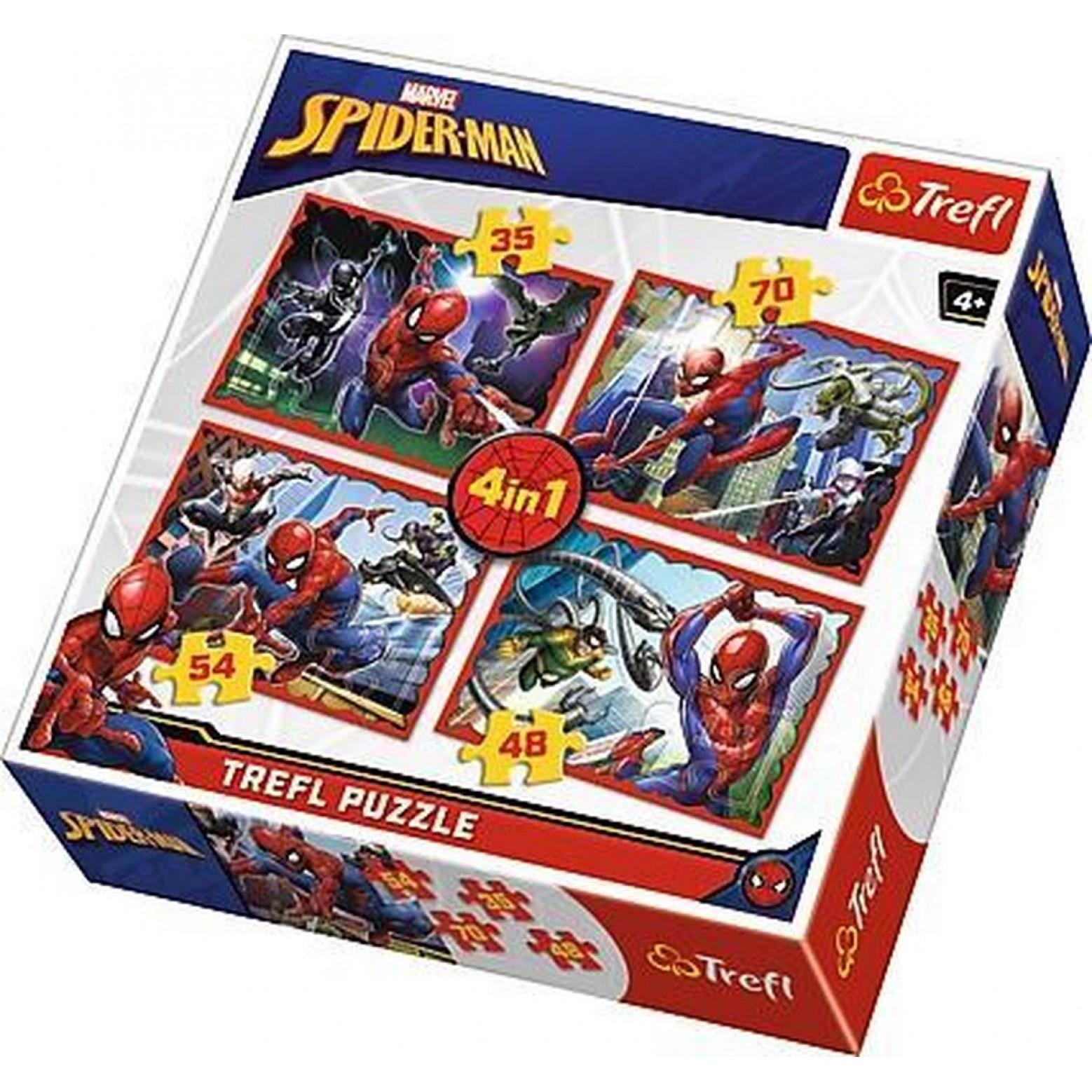 Spiderman puzzel 4 in 1 vanaf 4 jaar