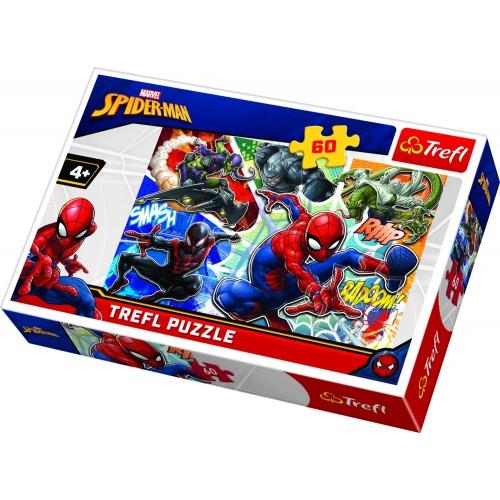 Marvel Spiderman puzzel 60 stukjes vanaf 4 jaar