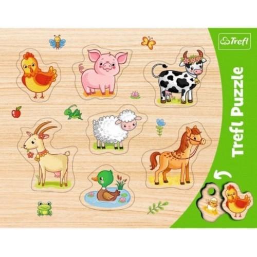 Trefl vormpuzzels 2 stuks dierenthema's