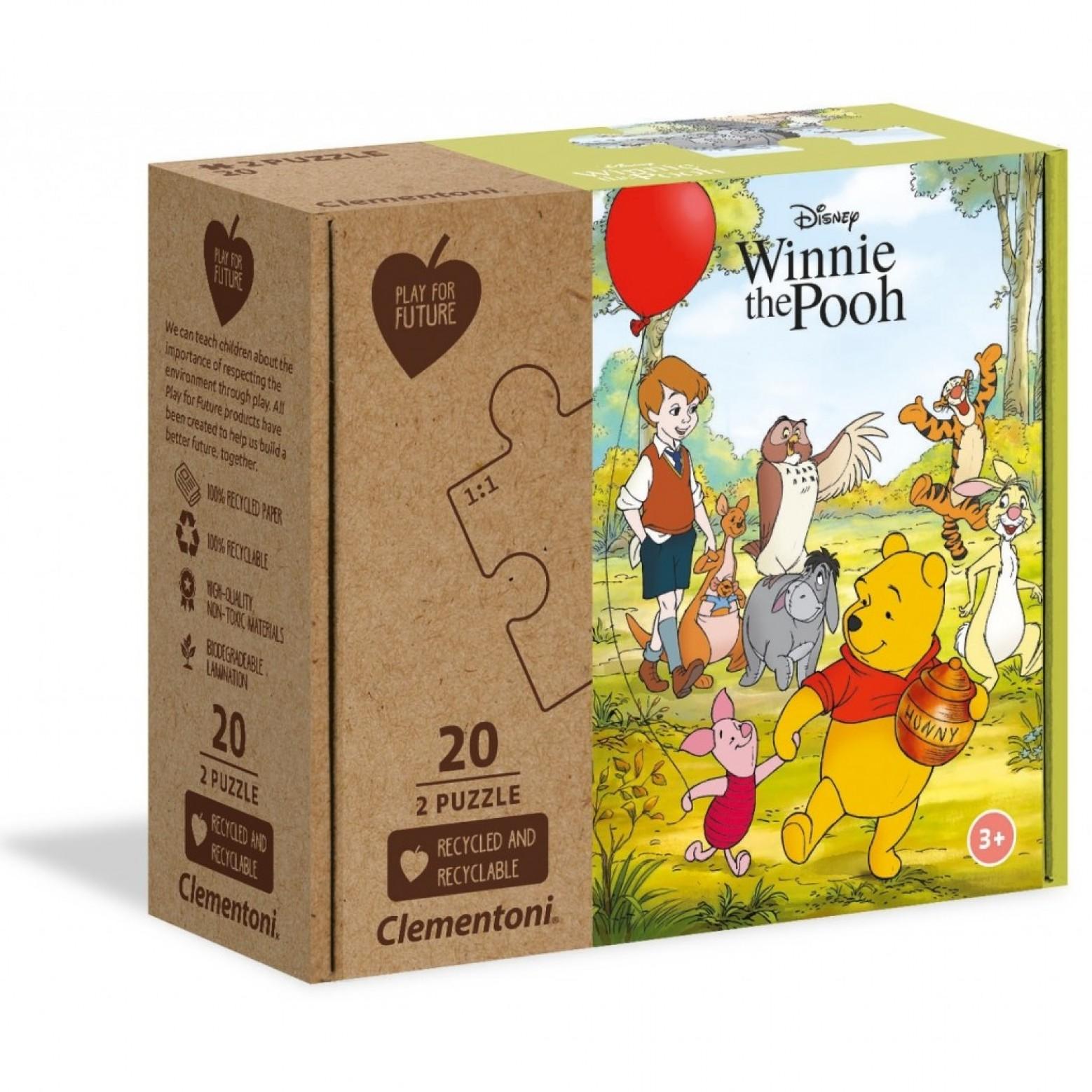 Winnie de pooh puzzel 2 x 20 stukjes 3+