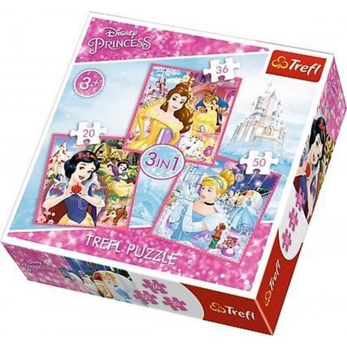 Disney Princess Puzzel 3 in 1