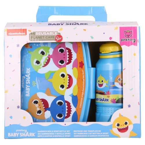 Baby Shark lunch set - broodtrommel en drinkfles