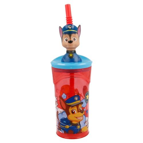 Paw Patrol Chase 3D drinkbeker met rietje 360 ml