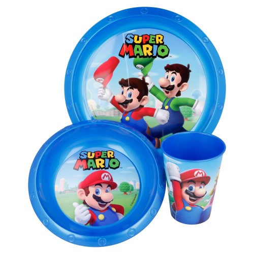 Super Mario 3-delig ontbijt set
