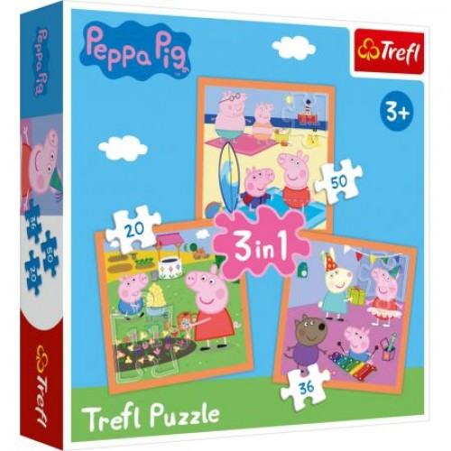 Peppa Pig Puzzel 3 in 1