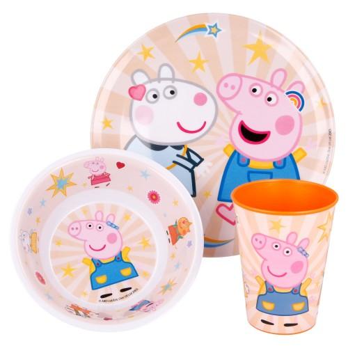 Peppa Pig 3-delig ontbijt set