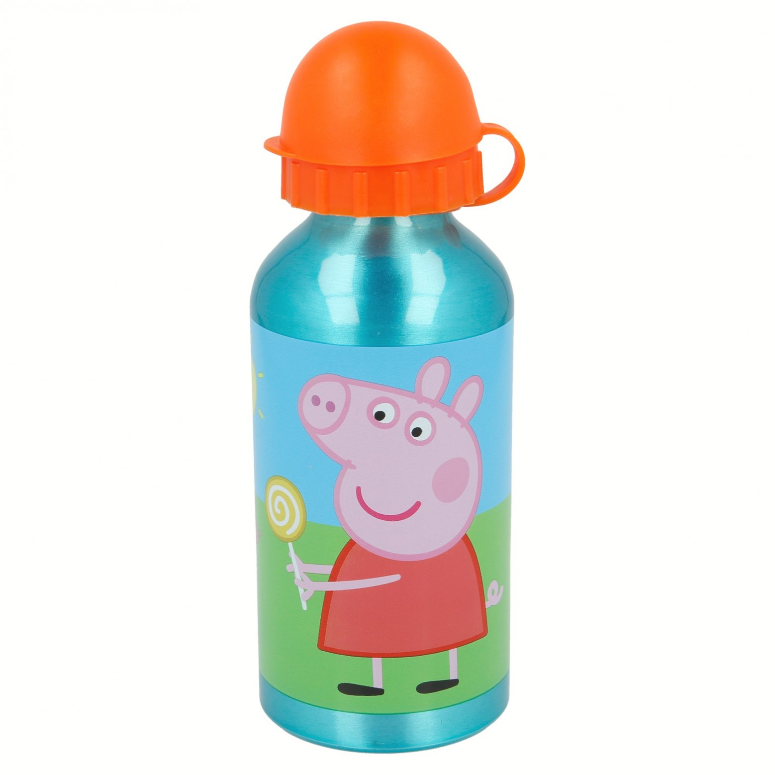 Peppa Pig grote broodtrommel met aluminium drinkbeker