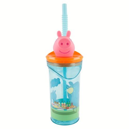 Peppa Pig 3D drinkbeker met rietje 360 ml