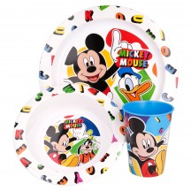 Mickey Mouse 3-delig ontbijtset