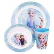 Frozen II 3-delig Blue Forest ontbijt set