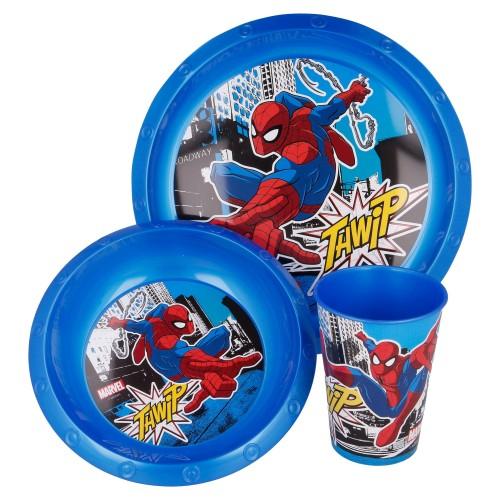 Marvel Spiderman 3-delige ontbijtset