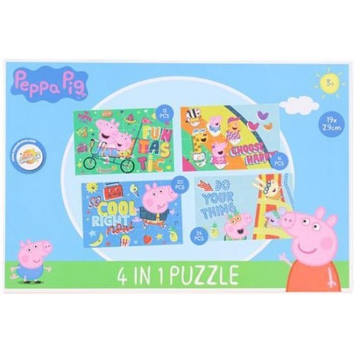 Peppa Pig  Puzzel 4 in 1