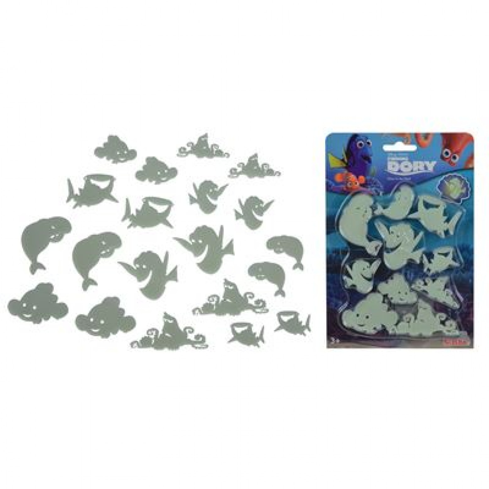 Finding Dory Glow in the dark set 3+