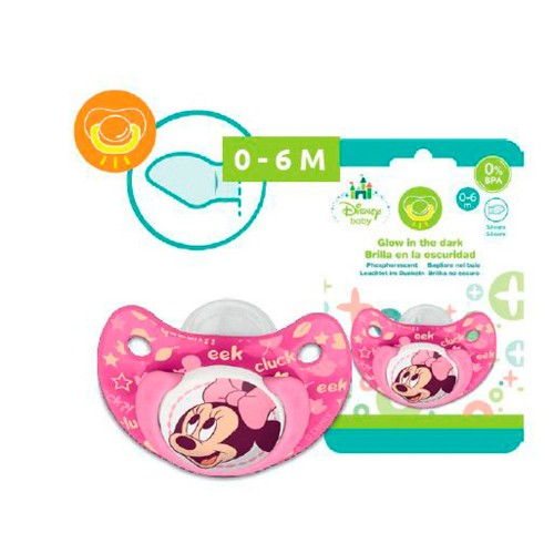 Disney Baby Minnie Mouse speen ( glow in the dark) 0-6 mnd
