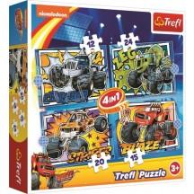Blaze 4 in 1 puzzel  3+