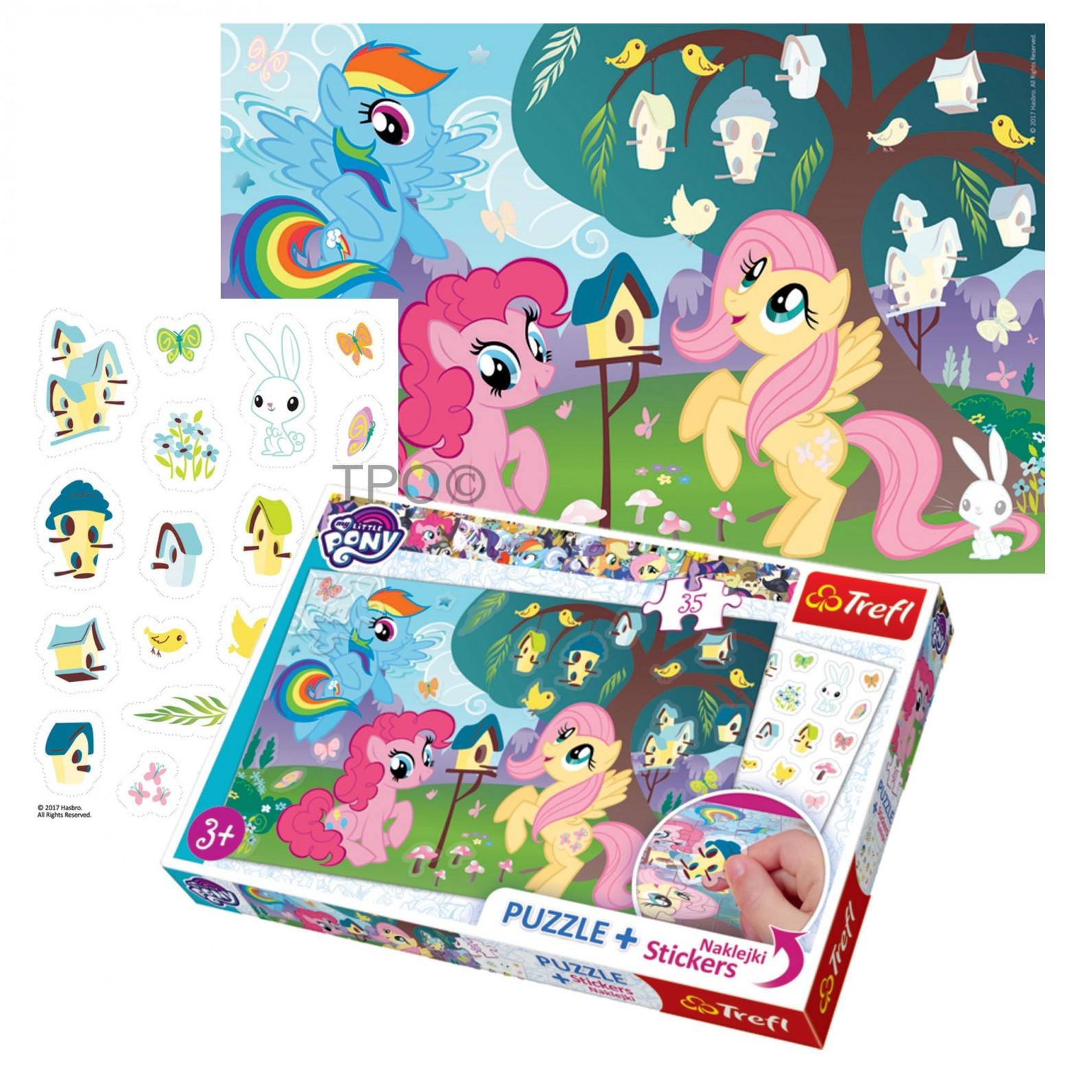 My Little Pony puzzel en stickers 35 stukjes 3+
