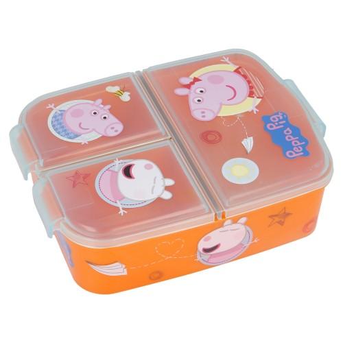 Peppa Pig 3-vaks broodtrommel