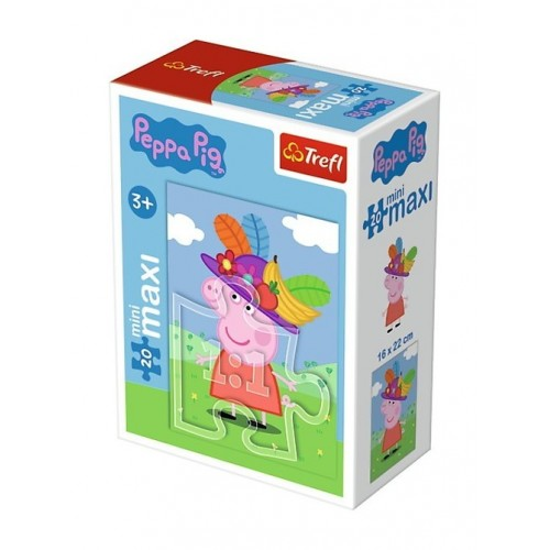 Peppa Pig  mini puzzel 2 stuks 20 stukjes 3+
