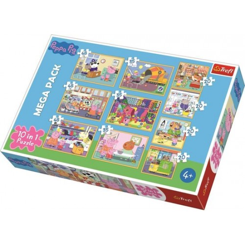 Peppa Pig puzzel 10 in 1 4+
