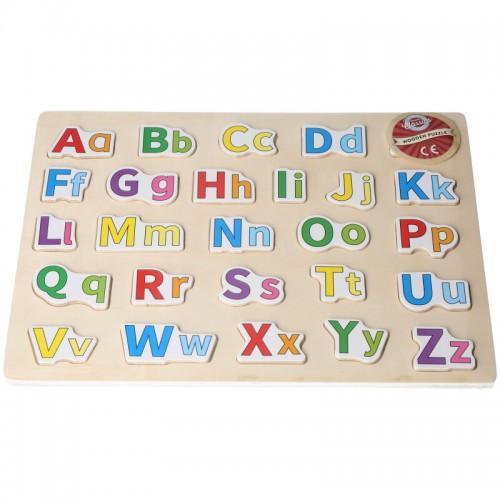 Houten vormpuzzel alfabet 3+