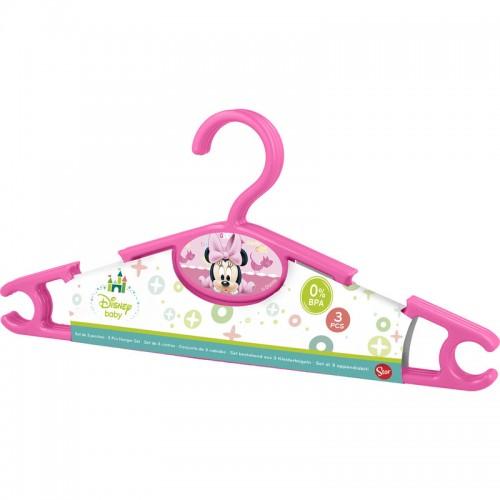 Disney Baby Minnie Mouse kledinghangers set van 3