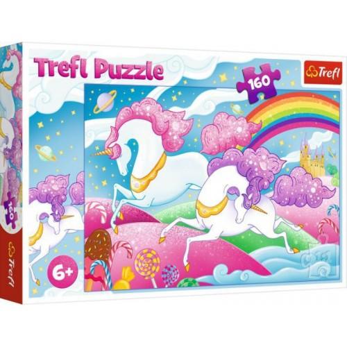 Puzzel galopperende Unicorns 160 st 6+