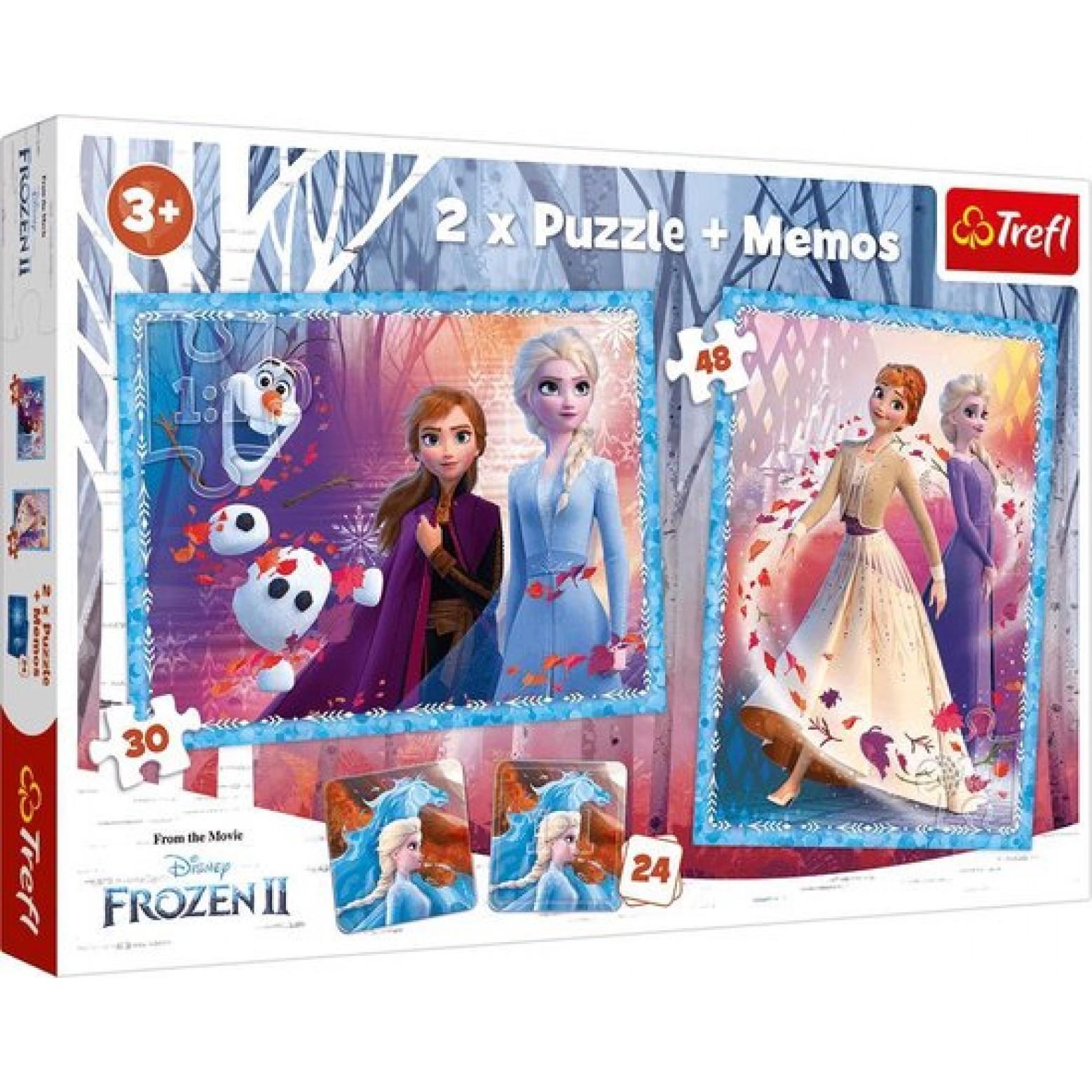 Disney Frozen 2 puzzel 2 in 1 + Memory