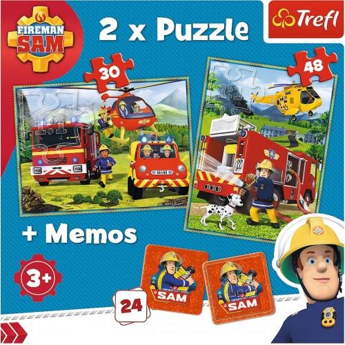 Brandweerman Sam puzzel 2 in 1 + Memory
