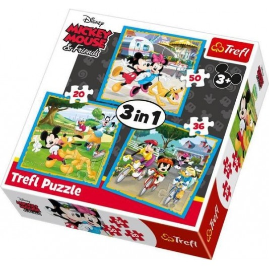 Mickey Mouse &Friends 3 in 1 puzzel