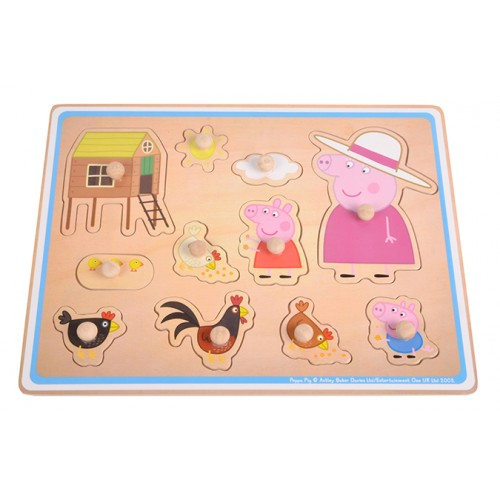 Peppa Pig vormen puzzel