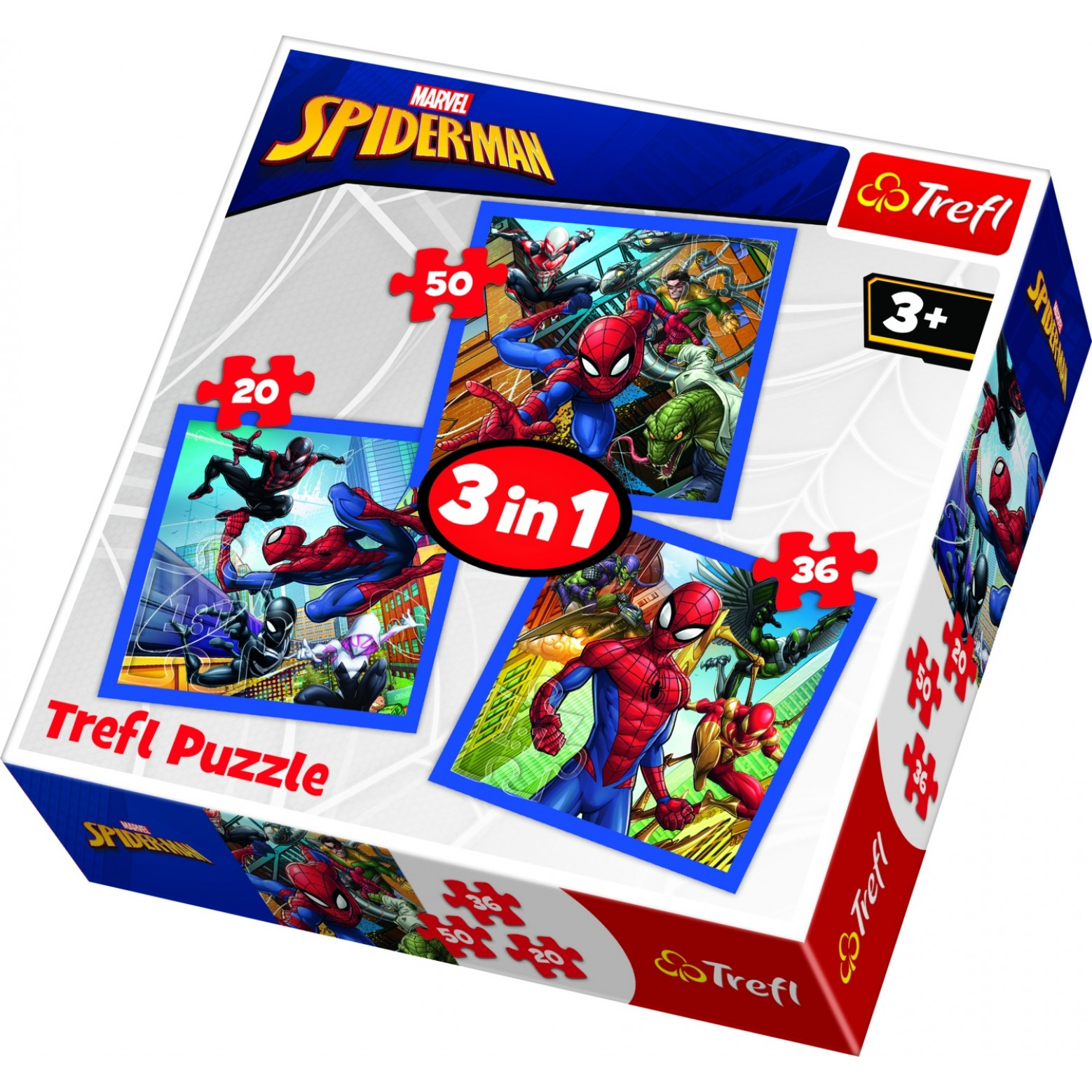 Spiderman puzzel 3 in 1