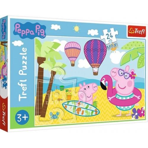 Peppa Pig maxi puzzel : 24 stukjes