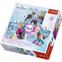Disney Frozen  puzzel 3 in 1