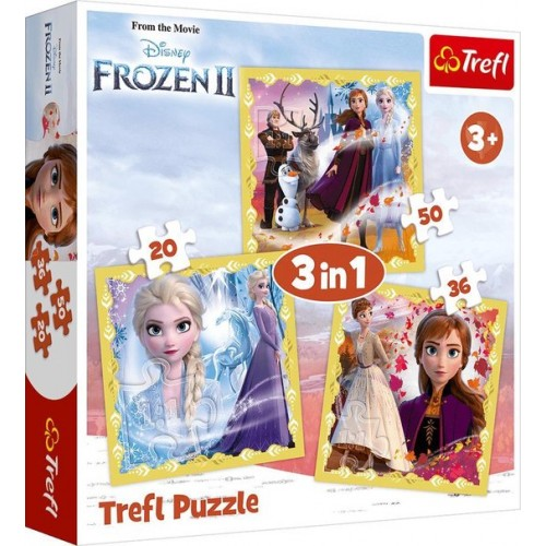 Disney Frozen II puzzel 3 in 1