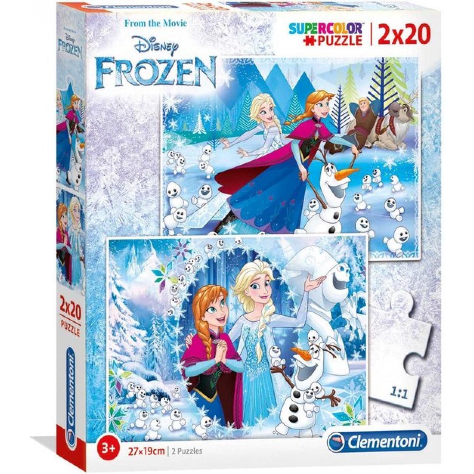 Disney Frozen  puzzel 2 in 1 -2 x 20 stukjes
