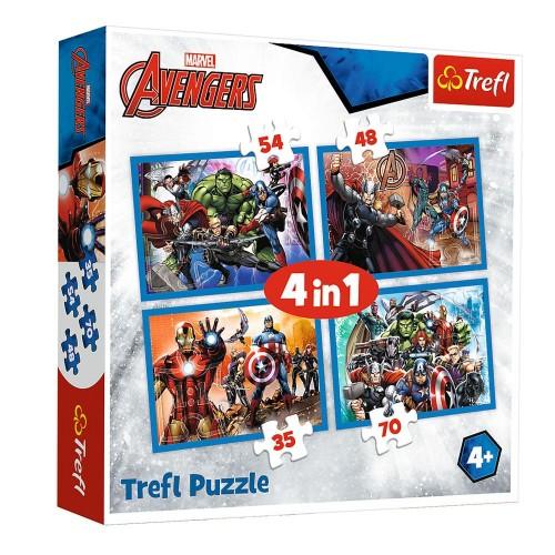 Avengers 4 in 1 puzzel
