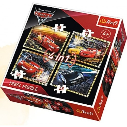 Cars 3 puzzel 4 in 1