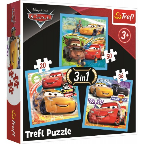 Cars 3 puzzel 3 in 1
