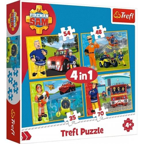 Brandweerman Sam 4 in 1 puzzel 4+