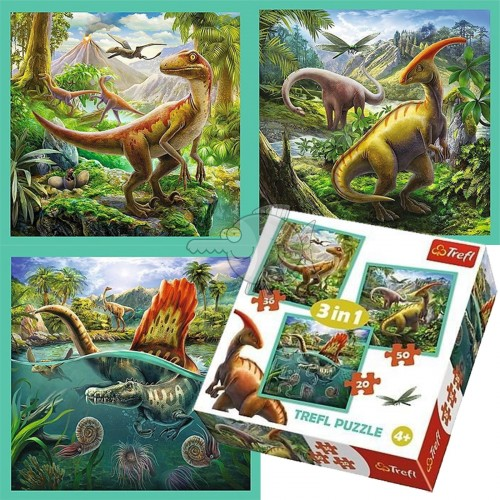 Dino puzzel 3 in 1 4+