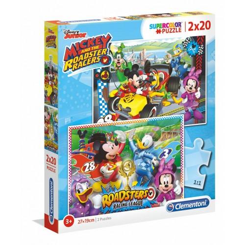Disney Junior puzzel Mickey and the roadster racers 2 x 20 stukjes 3+