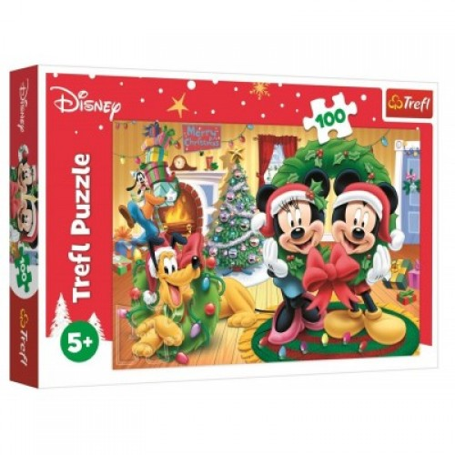 Disney Mickey en Minnie kerstmis puzzel 100 stukjes 5+