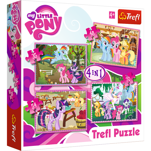 My Little Pony 4 in 1 puzzel 4+
