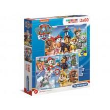 Paw Patrol puzzel 2 x 60 stukjes 5+